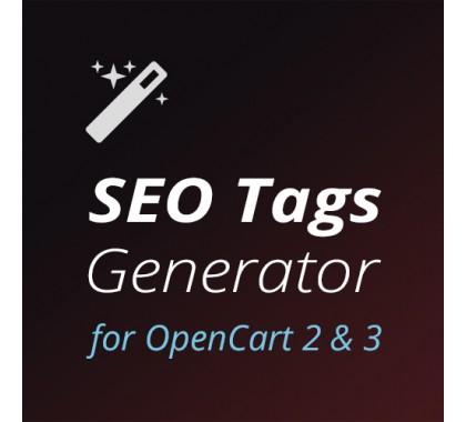 SEO Tags Generator — лучший SEO генератор мета-тегов для OpenCart 2 и OpenCart 3 - фото 1